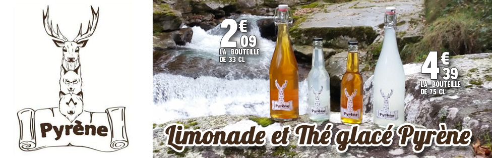 Limonade et Thé glacé Pyrène