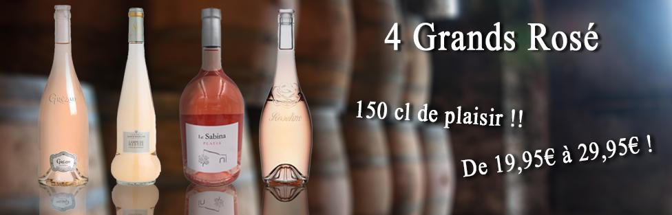 4 GRANDS rosé de 150 cl